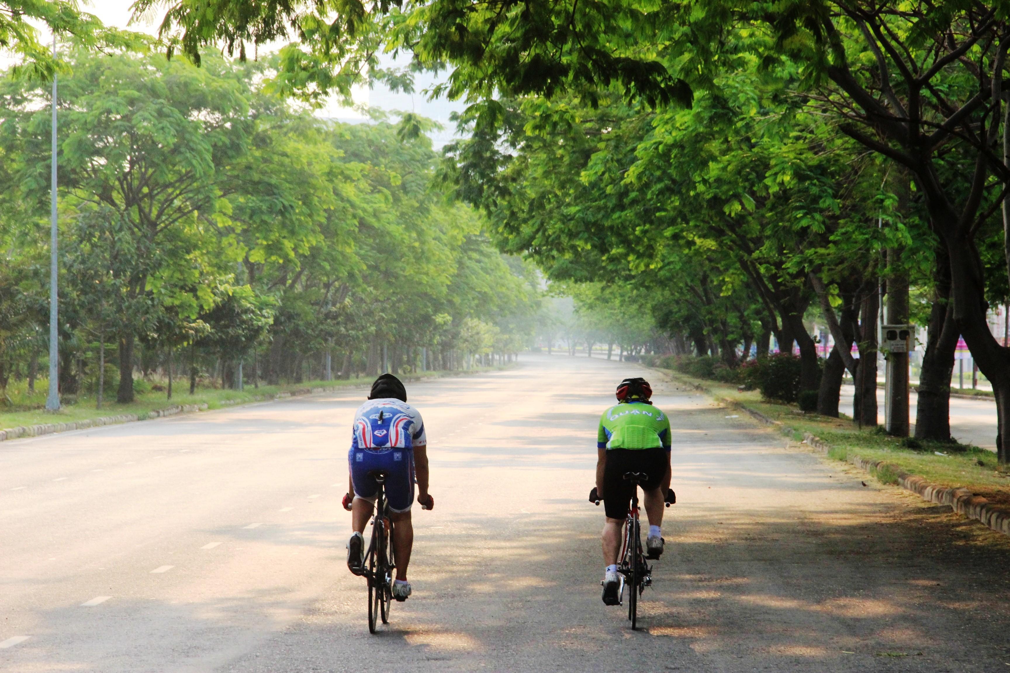 Family Biking in Phu My Hung, Ho Chi Minh city