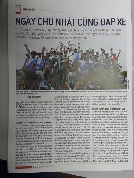 Sunday Bike Ride on Tuoi Tre newspaper