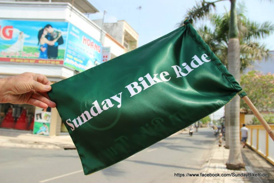 Sunday bike Ride flag